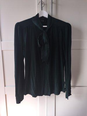 Bluse / Shirt mit Satin-Schluppe