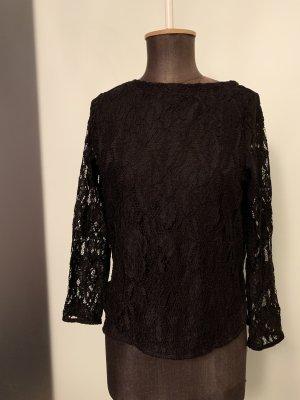 Bluse Shirt mit Spitze Gr 36 38 S von H&M