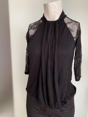 Bluse Shirt mit Spitze Gr 38 M von Zara