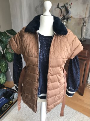 Quilted Gilet bronze-colored-dark blue
