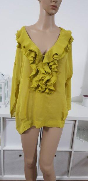 Ann Christine Blouse à manches longues jaune citron vert