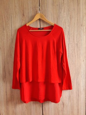 Bluse Shirt Oberteil rot Gr. M