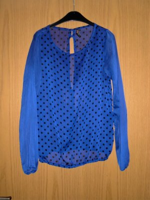 Bluse Shirt S 36 Fishbone Blau