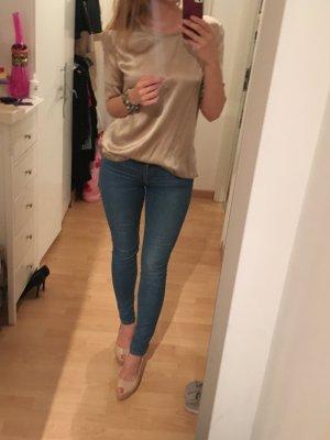 Bluse Shirt Seide Hallhuber Gold