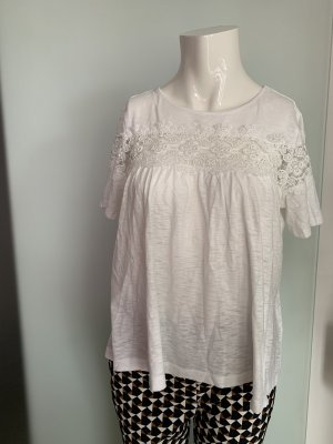 H&M Top extra-large blanc