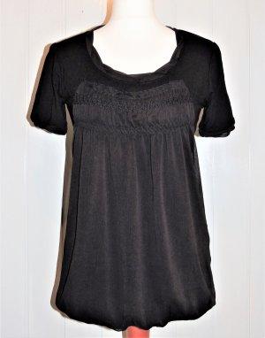 Patrizia Dini Tunique noir tissu mixte