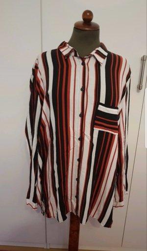 Bluse Shirt Ulla Popken 50/52 rot weiß Schwarz