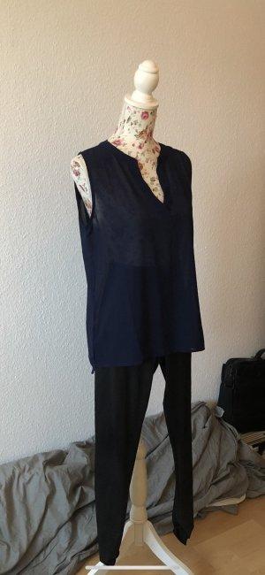 Amisu Blusa larga azul oscuro