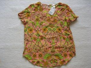 bluse sommer neu gr. 36 s jungle blumen floral H&M