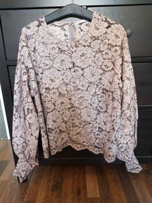 Zara Lace Blouse dusky pink-grey lilac