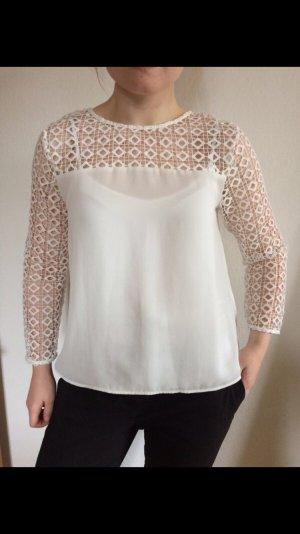 Bluse Spitze Spitzenbluse weiße Bluse Zara Größe L Toteme