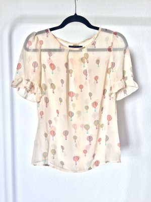 Bluse Sugarhill Boutique Summer Skies Heißluftballon Balloon süß nude