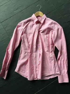 Bluse, tailliert von GANT, Größe 36, rosa-weiß kariert