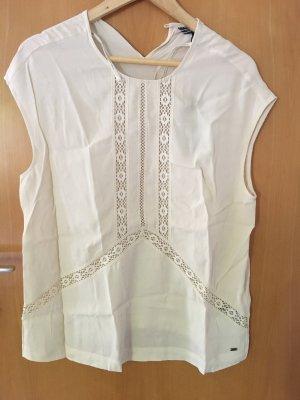 Bluse Tommy Hilfiger neu mit Etikett weiß Creme M 38 top Shirt Bluse