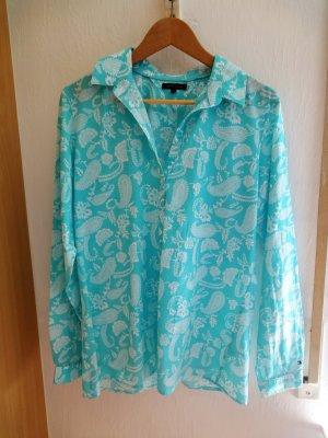 Bluse Tommy Hilfiger Paisley Gr. 12 (40/42) blau weiss