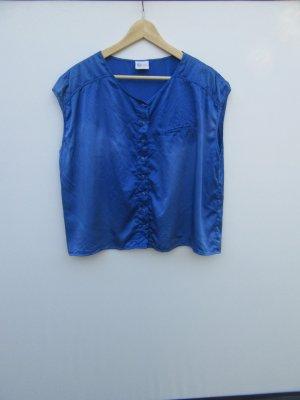 Vintage Blouse sans manche bleu