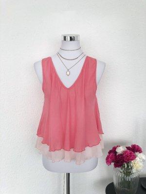 Bluse Top Gr.S M 36 38 rosa Sommer Rückensusschnitt