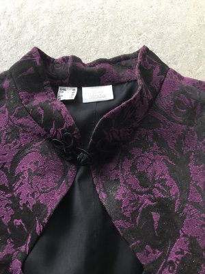 Bluse Top lila schwarz