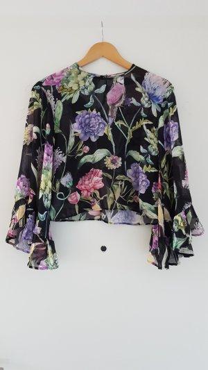 Bluse / Top mit Rüschenärmeln von H&M Gr. 36