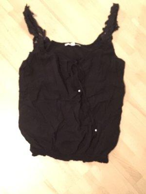 Bluse / top mit spitzen Trägern
