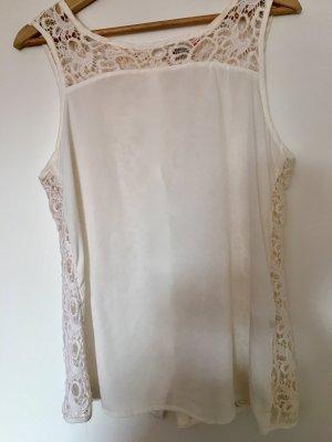 Bluse/ top mit weißer spitze