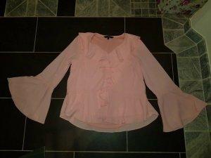 Bluse Top Oberteil L (38/40) Tunika Vero Moda Blogger Glockenärmel rosa Rüschen