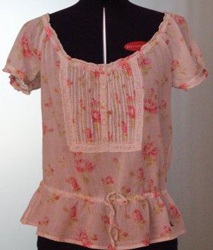 Abercrombie & Fitch Blusa rosa chiaro Cotone