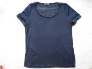 bluse top orsay neu dunkelblau gr. s 36 wildlederoptik