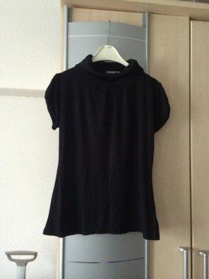 Bluse Top Rollkragenpullover Gr. 34 36 XS S kurzarm schwarz C&A (Clockhouse)