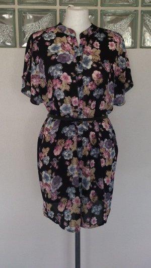 Bluse Top Shirt T-Shirt Gr. 38 M 40 L Tunika Only Blogger fashion Blumenprint kurzes Kleid