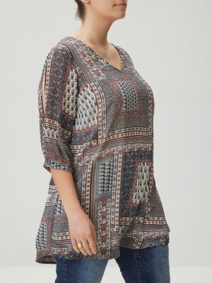Bluse Top Shirt T-Shirt Gr 44 XL Tunika Long Sommer casual Junarose by Vero Moda