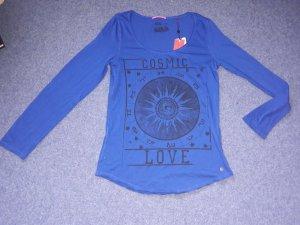 Bluse Top Shirt T-Shirt Hemd QS by s.Oliver Gr L 40 Tunika Long NEU Langarm