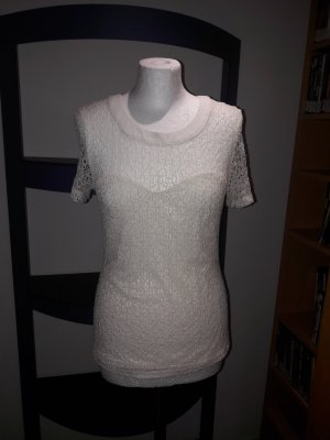Bluse Top Shirt T-Shirt Hemd Vila Vero Moda Gr. M 38 spitze Tunika Spitzentop