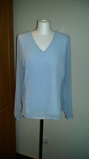 Bluse Top Shirt T-Shirt Vero Moda Gr. M/38 Langarm Tunika hellblau Neu blickdich