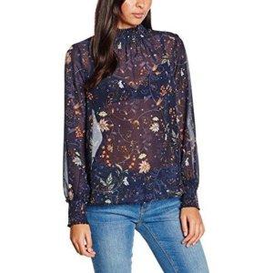 Bluse Top Shirt T-Shirt Vero Moda Gr. M/38 Langarm Tunika Print Blumen Neu