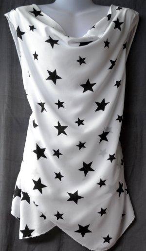 Camicia fantasia bianco-nero Viscosa