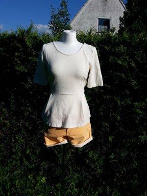 Bluse Top T-Shirt Shirt Sommer Only, Peplum, Gr. L/40 neu Büro Schößchen weiß