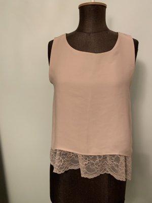 Bluse Top von Zara mit Spitze Gr 36 S