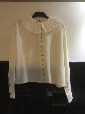 Topshop Ruffled Blouse white-natural white