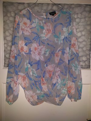 Topshop Blouse oversized multicolore polyester
