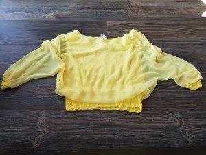 Bluse transparent, am Bauch doppelt gefüttert
