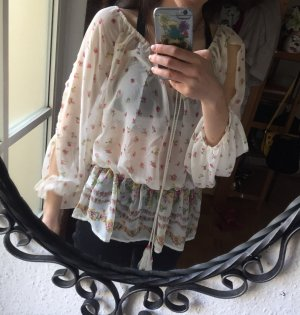 Bluse transparent Blumen / floral