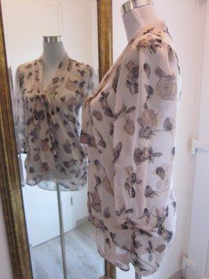 Bluse Transparent Creme Braun Grau Gr S #MissSefridge