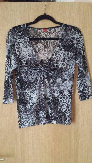 Bluse transparent mit Blumenmuster