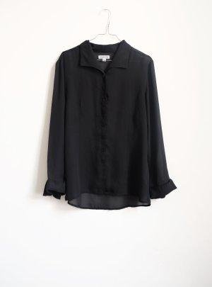 bluse transparent schwarz minimal cleanchic S M