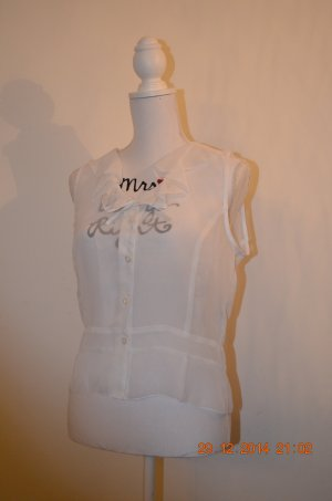 Bluse transparent weiß
