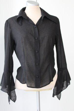 Franco Callegari Transparante blouse zwart