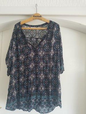 Yessica Blusa de túnica multicolor