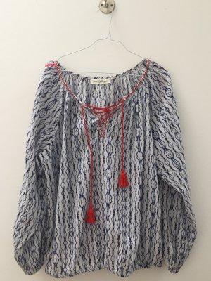 Bluse/Tunika Batik Indigo