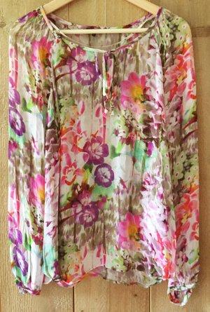 Bluse / Tunika bunt, leicht transparent, von DEPT, Größe S